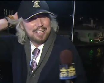 Barry the Grand Marshall getting interviewed on board (December 10, 2010)