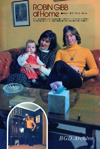 Spencer             Gibb, age 1, with his parents (1973)