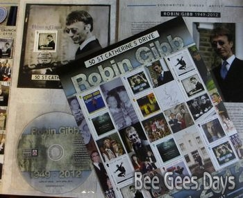 Robin Gibb Special Folder is still available from the Isle of Man Post Office