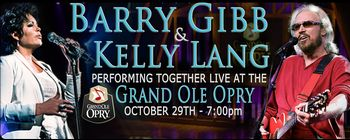 Barry will sing with Kelly Lang at Opry Goes Pink on October 29