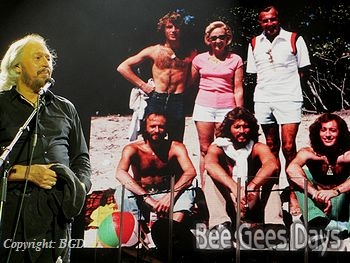 Barry Gibb speaking about his family at London O2 Arena (October 2013)