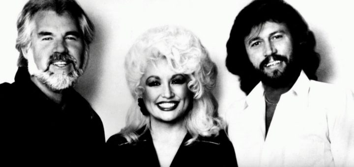 Kenny Rogers, Dolly Parton, and Barry Gibb